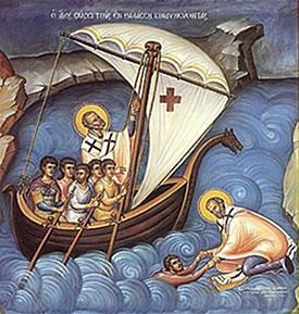 Святитель Николай умирил своей молитвой морские волны
